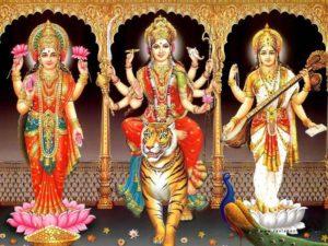 Durga, Lakshmi, Saraswati